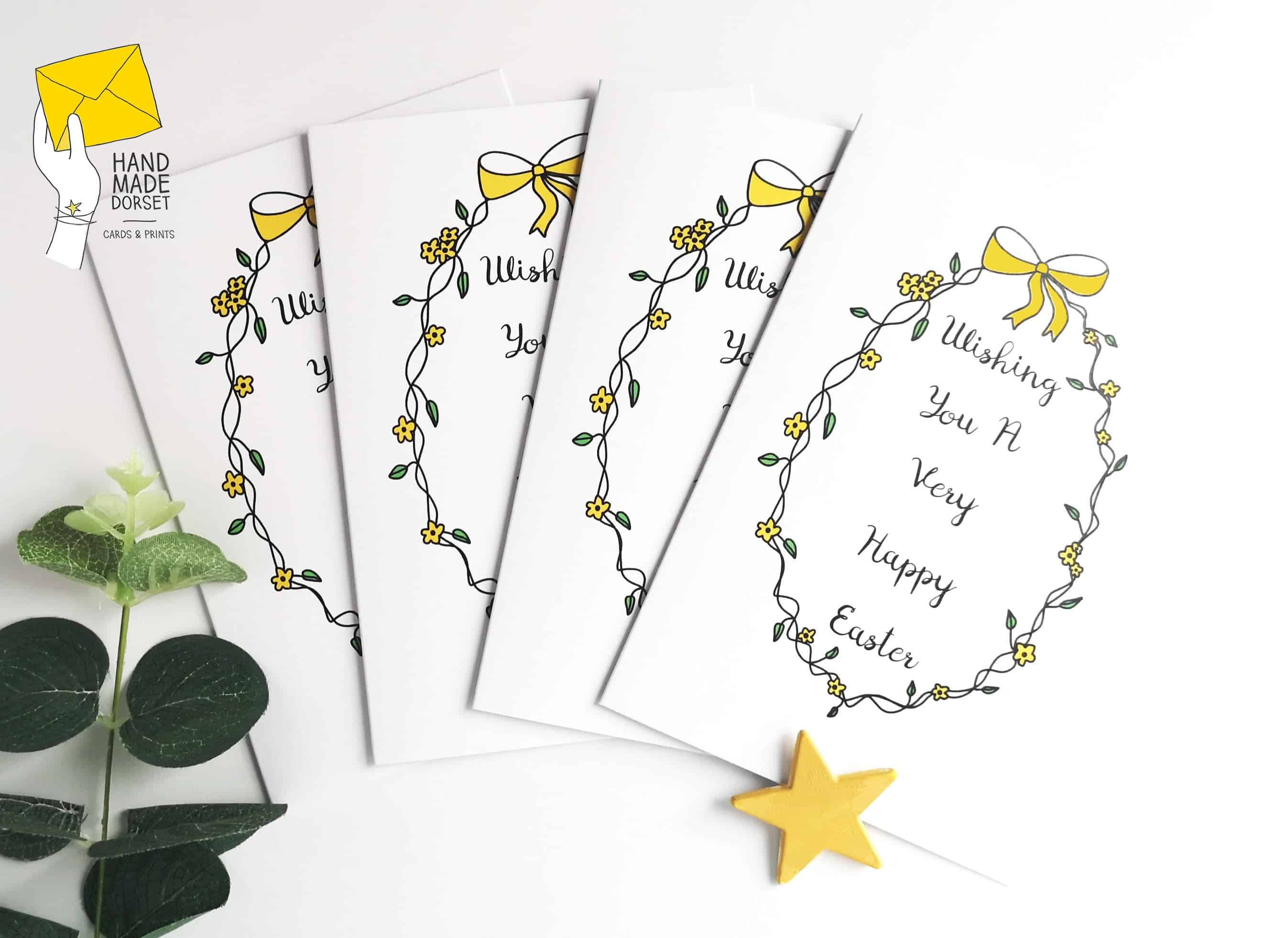 Wishing you a happy Easter card, custom easter card