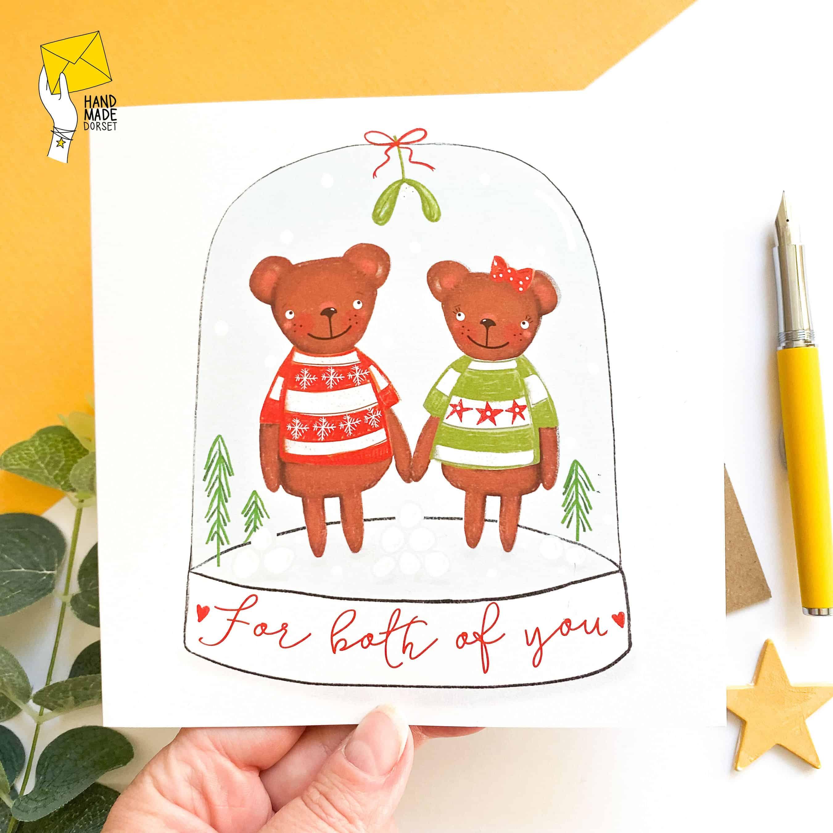 For both of you Christmas card, couples christmas card