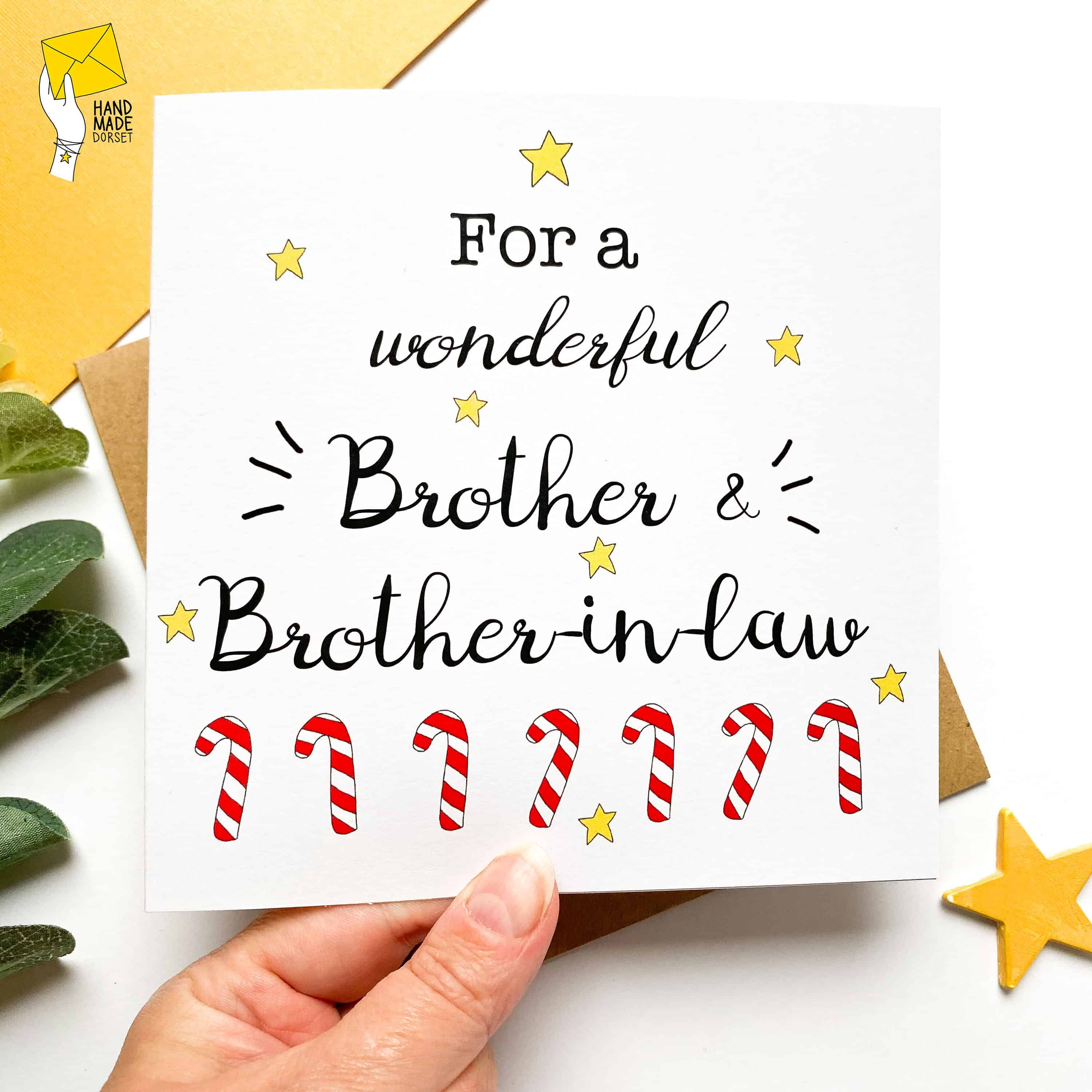 Brother and brother in law christmas card, Christmas card for brother & brother-in-law