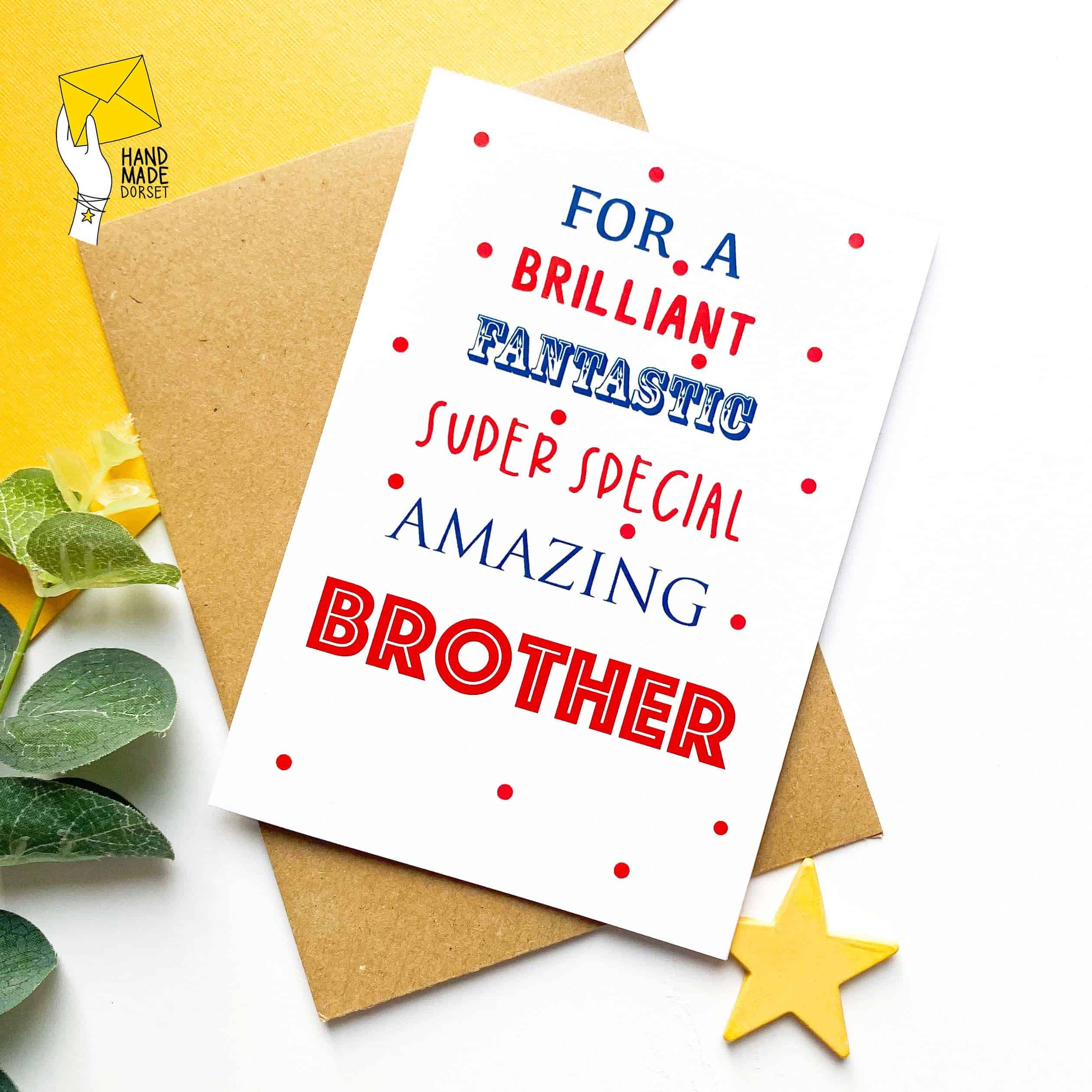 Brother birthday card, birthday card for brother